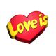 Форма пластиковая Love is