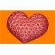 Форма пластиковая Сердце в розах