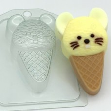 Форма пластиковая Мороженое Мышка