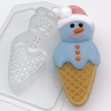 Форма пластиковая Мороженое снеговик