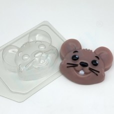 Форма пластиковая Мышь Мультяшная голова