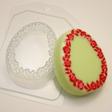 Форма пластиковая Яйцо плоское Цветочная рамка