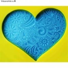 Штамп силиконовый Кружевное сердце