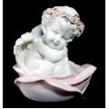 Форма силиконовая Ангел в розе 3D