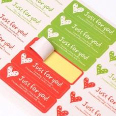 Наклейка Just for you зеленые с белым и красные с белым